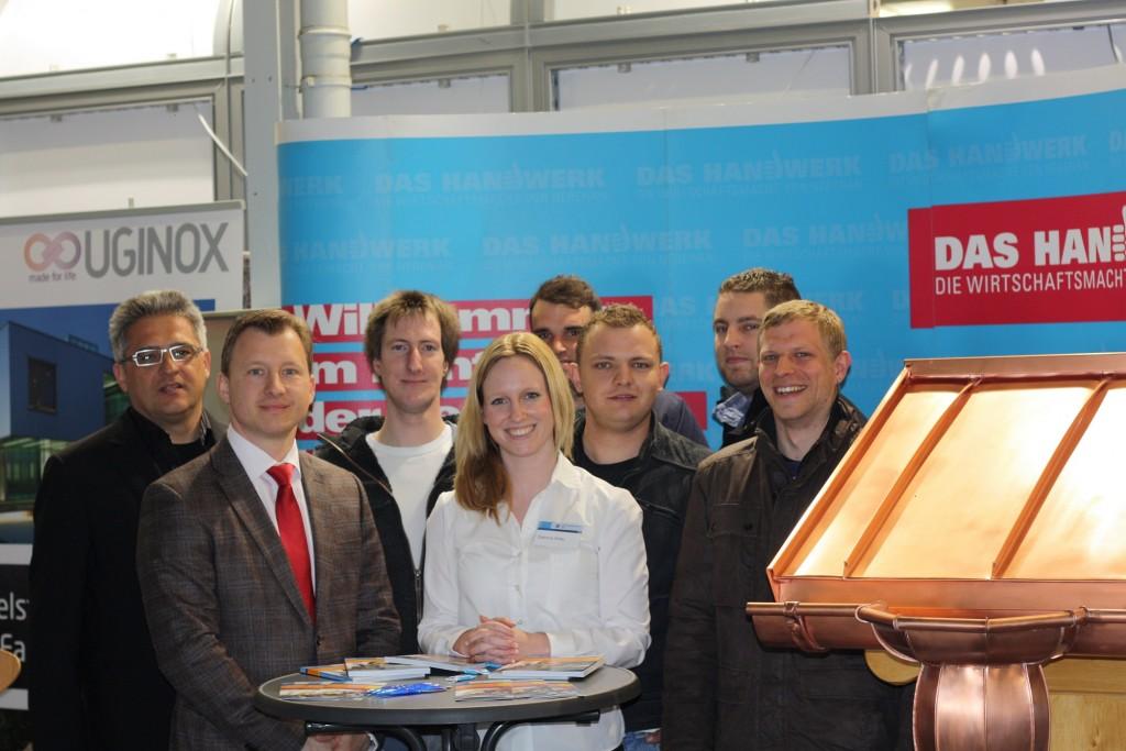 Bernd Kramer – BK Consulting auf der Kaufmann-Messe mit den Meisterschülern Hwk Ulm